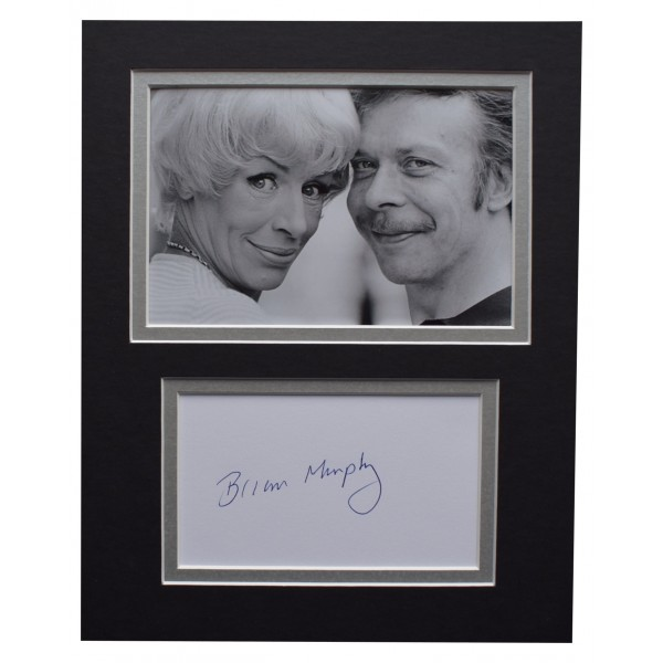 Brian Murphy Signed Autograph 10x8 photo display George & Mildred TV AFTAL COA  Perfect Gift Memorabilia
