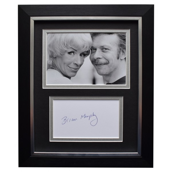 Brian Murphy Signed 10x8 Framed Autograph Photo Display George & Mildred COA Perfect Gift Memorabilia