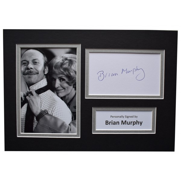 Brian Murphy Signed Autograph A4 photo display George & Mildred AFTAL COA Perfect Gift Memorabilia