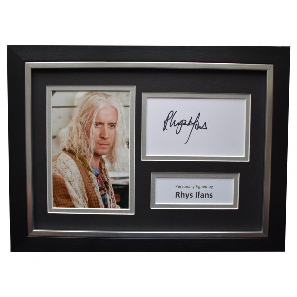 Rhys Ifans Signed A4 Framed Autograph Photo Display Harry Potter Film COA Perfect Gift Memorabilia