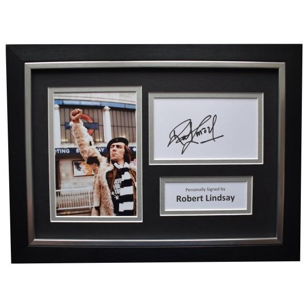 Robert Lindsay Signed A4 Framed Autograph Photo Display Citizen Smith TV COA Perfect Gift Memorabilia