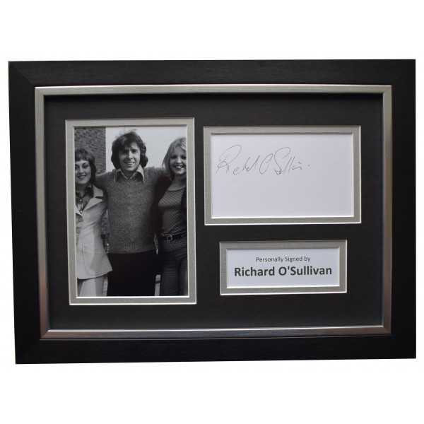 Richard O'Sullivan Signed A4 Framed Autograph Photo Display Man About The House  Perfect Gift Memorabilia