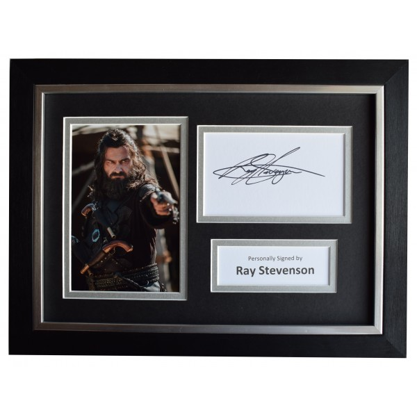 Ray Stevenson Signed A4 Framed Autograph Photo Display Black Sails Film COA Perfect Gift Memorabilia