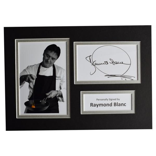 Raymond Blanc Signed Autograph A4 photo display Michelin Chef AFTAL COA Perfect Gift Memorabilia