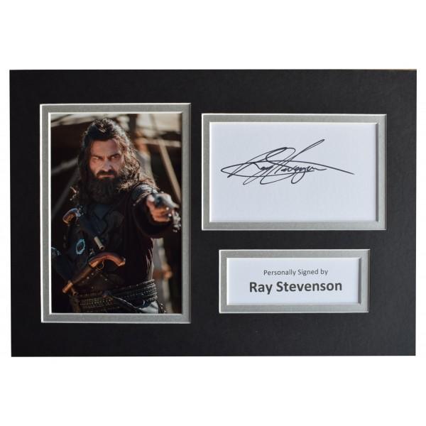 Ray Stevenson Signed Autograph A4 photo display Black Sails AFTAL COA Perfect Gift Memorabilia