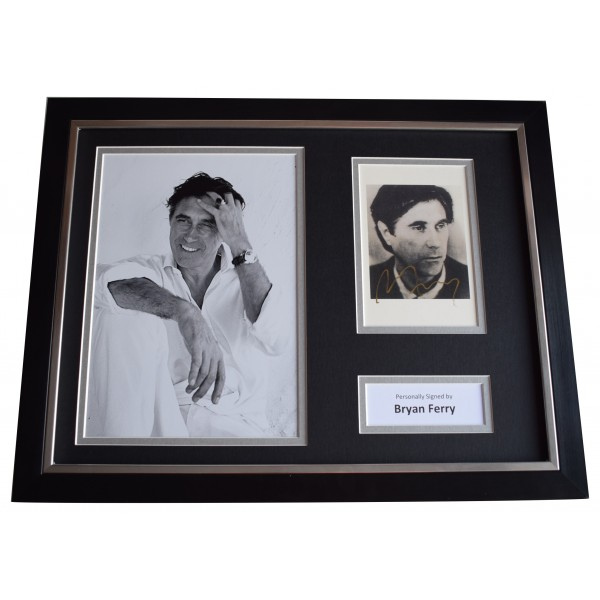 Bryan Ferry Signed Framed Photo Autograph 16x12 display Roxy Music AFTAL COA Perfect Gift Memorabilia