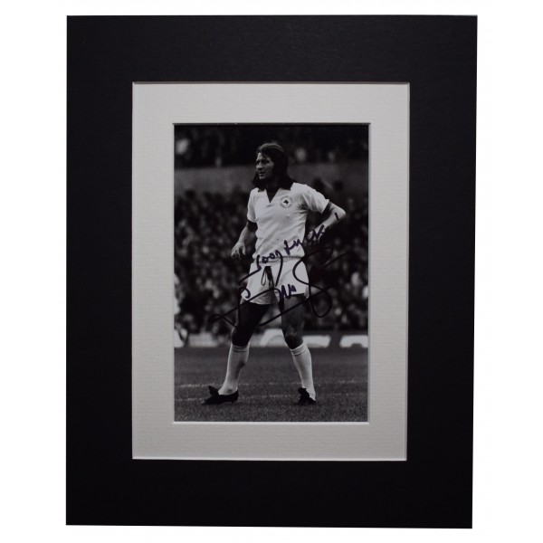 Frank Worthington Signed Autograph 10x8 photo display Leicester AFTAL COA Perfect Gift Memorabilia