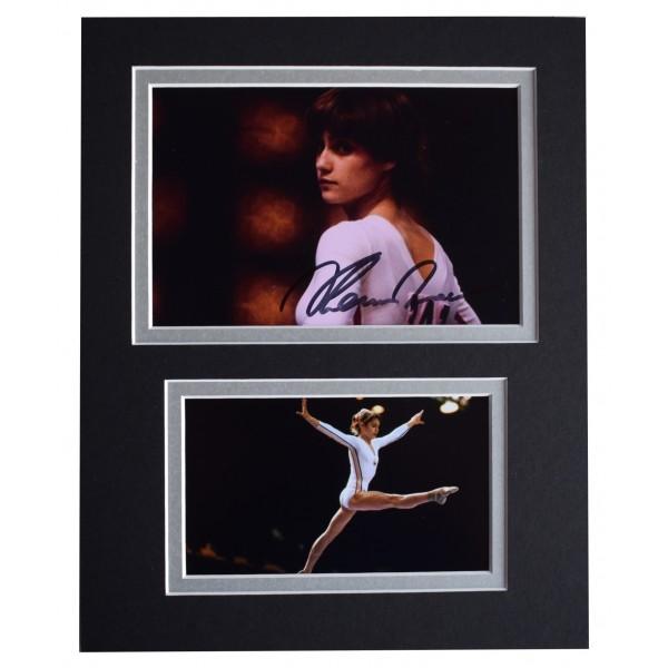 Nadia Comaneci Signed Autograph 10x8 photo display Gymnastics Sport AFTAL COA Perfect Gift Memorabilia