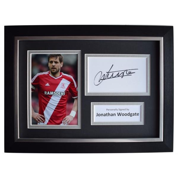 Jonathan Woodgate Signed A4 Framed Autograph Photo Display Middlesborough COA  Perfect Gift Memorabilia