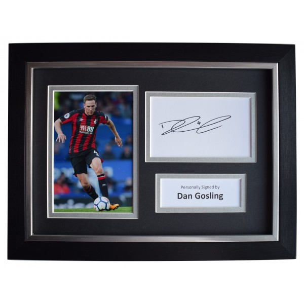 Dan Gosling Signed A4 Framed Autograph Photo Display Bournemouth Football COA Perfect Gift Memorabilia
