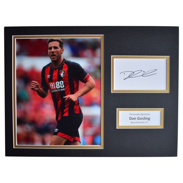 Dan Gosling Signed autograph 16x12 photo display Bournemouth Football AFTAL COA Perfect Gift Memorabilia