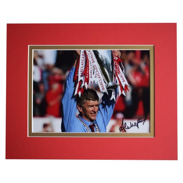 Arsene Wenger Signed Autograph 10x8 photo display Arsenal Football AFTAL COA Perfect Gift Memorabilia