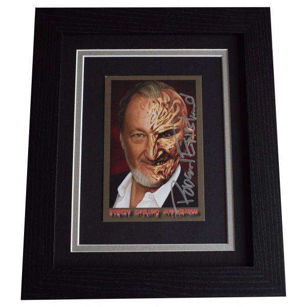 Robert Englund Signed 10x8 Framed Photo Autograph Display Nightmare on Elm St Perfect Gift Memorabilia