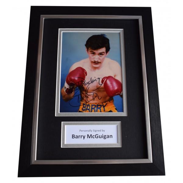 Barry McGuigan Signed A4 Framed Autograph Photo Display Boxing Sport AFTAL COA Perfect Gift Memorabilia