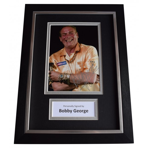 Bobby George Signed A4 Framed Autograph Photo Display Darts Sport AFTAL COA Perfect Gift Memorabilia