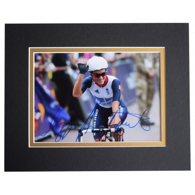 Lizzie Armitstead Signed Autograph 10x8 photo display Olympic Cycling AFTAL COA Perfect Gift Memorabilia