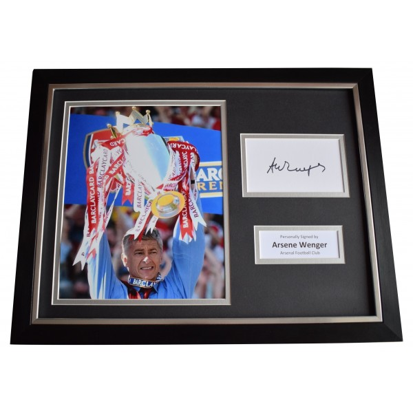 Arsene Wenger Signed Framed Photo Autograph 16x12 display Arsenal Football COA Perfect Gift Memorabilia