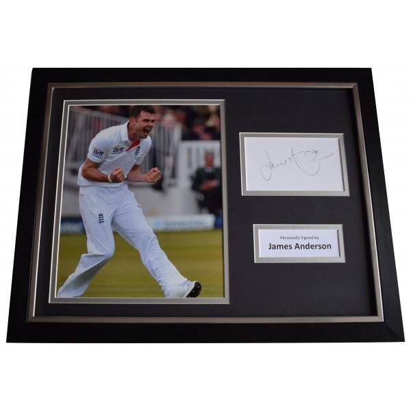 James Anderson Signed Framed Photo Autograph 16x12 display Cricket Sport COA Perfect Gift Memorabilia