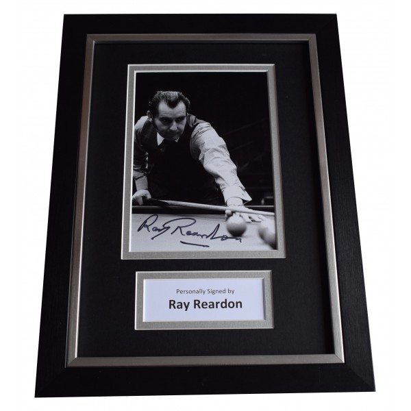 Ray Reardon Signed A4 Framed Autograph Photo Display Snooker Sport COA Perfect Gift Memorabilia