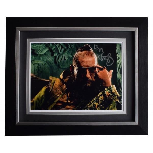 Ben Kingsley Signed 10x8 Framed Photo Autograph Display Iron Man Film COA Perfect Gift Memorabilia