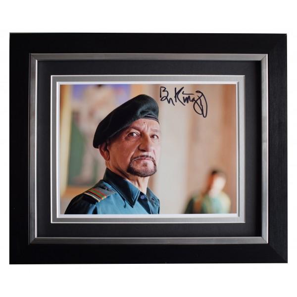 Ben Kingsley Signed 10x8 Framed Photo Autograph Display The Dictator Film COA Perfect Gift Memorabilia