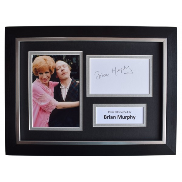 Brian Murphy Signed A4 Framed Autograph Photo Display Man About the House COA Perfect Gift Memorabilia