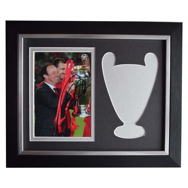 Rafa Benitez Signed 10x8 Framed Photo Liverpool European Cup Final 2005 COA Perfect Gift Memorabilia