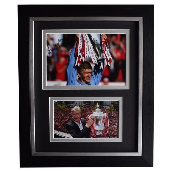 Arsene Wenger Signed 10x8 Framed Photo Autograph Display Arsenal Football COA Perfect Gift Memorabilia