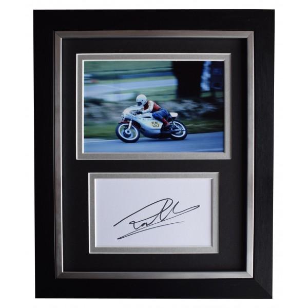 Ron Haslam Signed 10x8 Framed Photo Autograph Display Superbikes Racing COA Perfect Gift Memorabilia