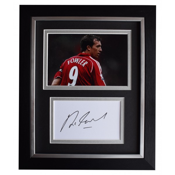 Robbie Fowler Signed 10x8 Framed Photo Autograph Display Liverpool Football COA Perfect Gift Memorabilia
