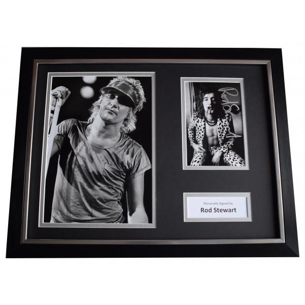 Rod Stewart Signed Framed Photo Autograph 16x12 display Music AFTAL COA Perfect Gift Memorabilia