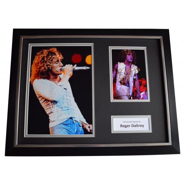 Roger Daltrey Signed Framed Photo Autograph 16x12 display The Who Music COA  Perfect Gift Memorabilia