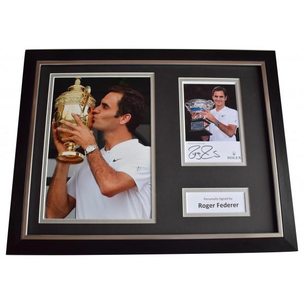 Roger Federer Signed Framed Photo Autograph 16x12 display Tennis Sport COA  Perfect Gift Memorabilia