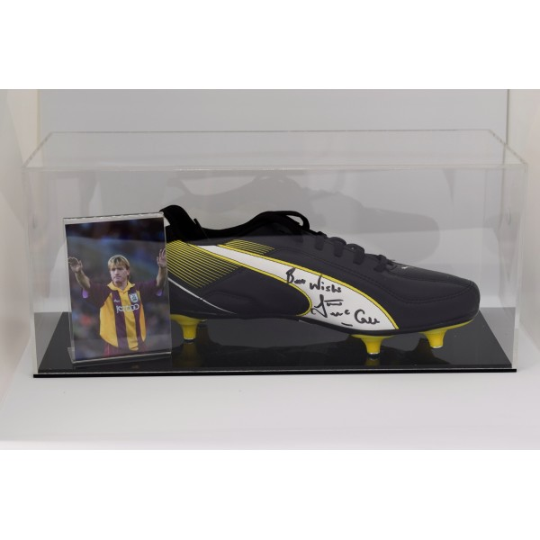 Stuart McCall Signed Autograph Football Boot Display Case Bradford City COA Perfect Gift Memorabilia