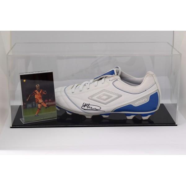 Ronald Koeman Signed Autograph Football Boot Display Case Barcelona COA  Perfect Gift Memorabilia