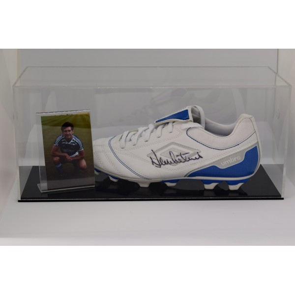 Dennis Mortimer Signed Autograph Football Boot Display Case Brighton AFTAL COA Perfect Gift Memorabilia