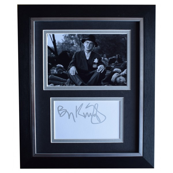 Ben Kingsley Signed 10x8 Framed Autograph Photo Display Schindlers List COA Perfect Gift Memorabilia