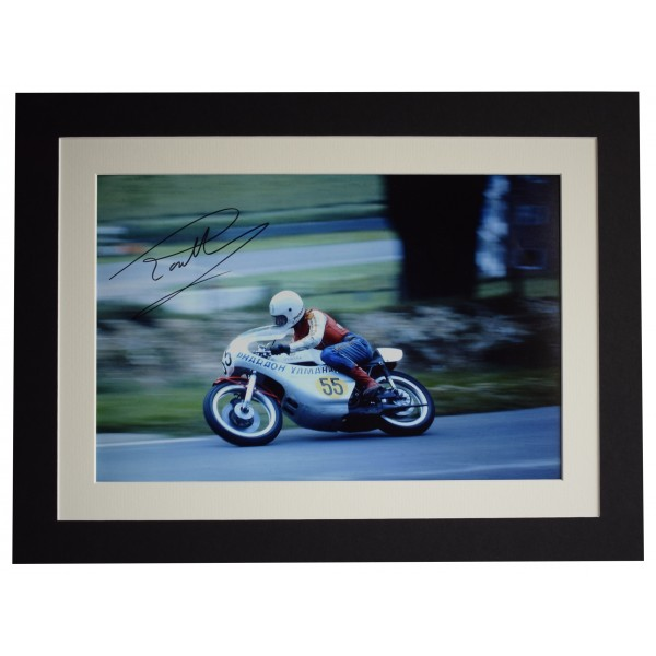Ron Haslam Signed autograph 16x12 photo display Superbikes Sport AFTAL COA Perfect Gift Memorabilia