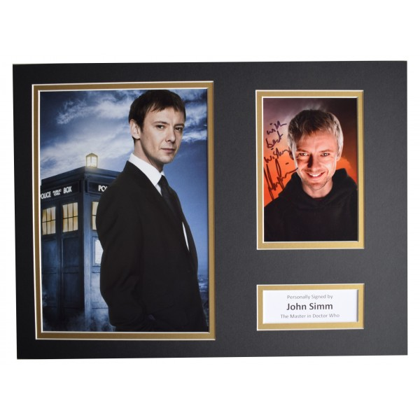 John Simm SIGNED autograph 16x12 photo display Doctor Who TV AFTAL COA Perfect Gift