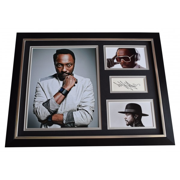 Will.i.am SIGNED FRAMED Photo Autograph 16x12 display Black Eyed Peas Music COA Perfect Gift Memorabilia