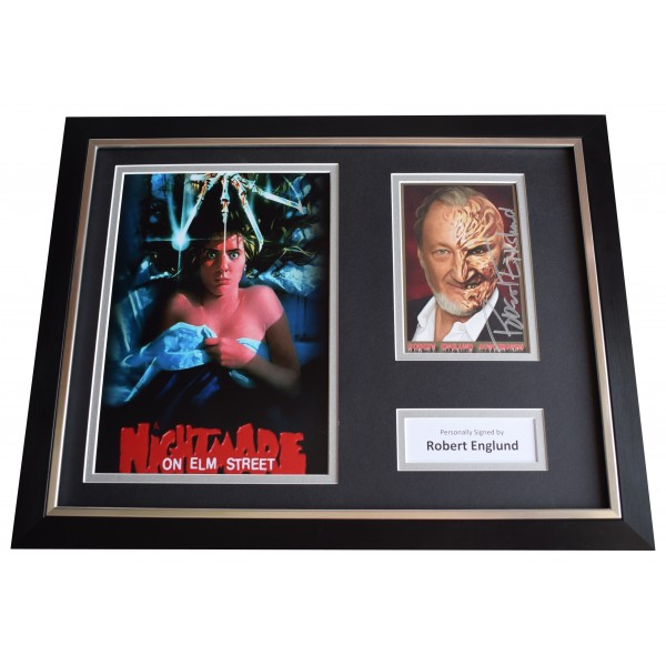 Robert Englund SIGNED FRAMED Photo Autograph 16x12 display Nightmare on Elm St Perfect Gift Memorabilia