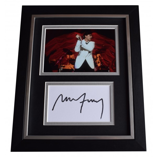 Bryan Ferry SIGNED 10x8 FRAMED Photo Autograph Display Roxy Music Perfect Gift Memorabilia