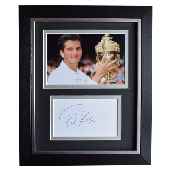 Richard Krajicek Signed 10x8 Framed Autograph Photo Display Tennis AFTAL COA Perfect Gift Memorabilia