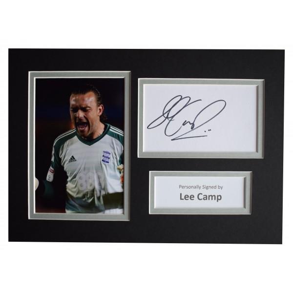 Lee Camp Signed Autograph A4 photo display Birmingham City Sport AFTAL COA