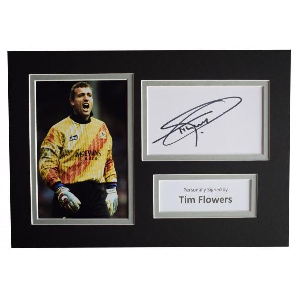 Tim Flowers Signed Autograph A4 photo display Blackburn Rovers Sport AFTAL COA Perfect Gift Memorabilia