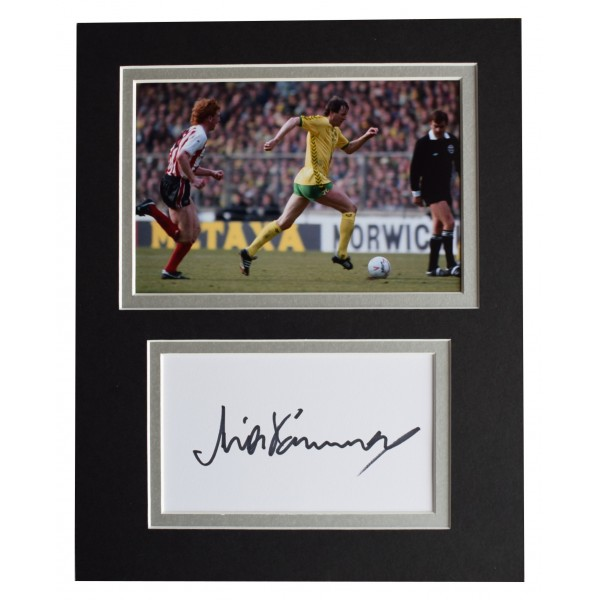 Mick Channon Signed Autograph 10x8 photo display Norwich City Football AFTAL COA