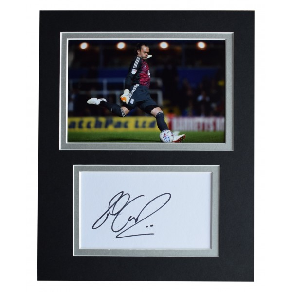 Lee Camp Signed Autograph 10x8 photo display Birmingham City AFTAL COA