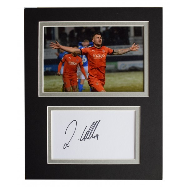 James Collins Signed Autograph 10x8 photo display Luton Town AFTAL COA
