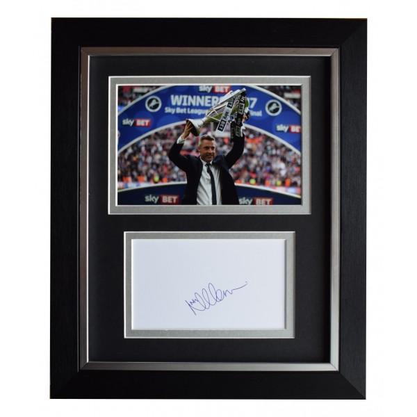 Neil Harris Signed 10x8 Framed Autograph Photo Display Millwall AFTAL COA