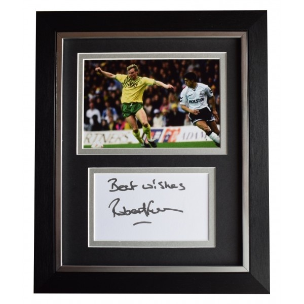 Robert Fleck Signed 10x8 Framed Autograph Photo Display Norwich City AFTAL COA